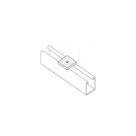 Channel bracket flat M8 hole HDG