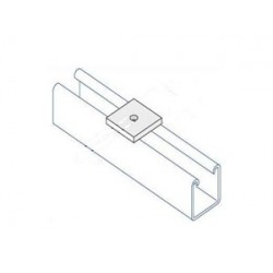 Channel bracket flat M8 hole BZP