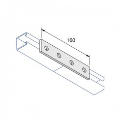 4 HOLE FLAT PLATE BRACKET HDG (BOX OF 50 PCS)