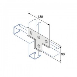 BRACKET- 4 Hole HDG (BOX OF 25 PCS)