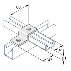 Channel Bracket Step Shallow AI-026 HDG (BOX OF 50 PCS)
