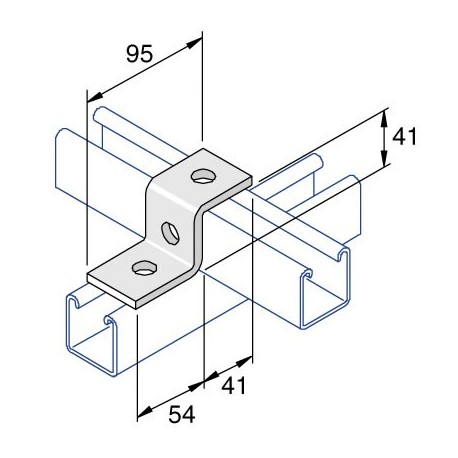 Channel Bracket Step Deep AI-027 HDG (BOX OF 50 PCS)