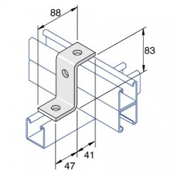 Channel Bracket Step Double AI-028 HDG (BOX OF 25 PCS)