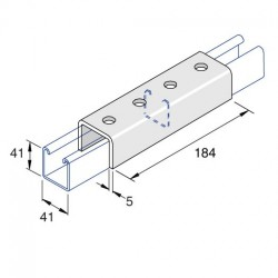 Channel Coupler External Deep AI-049 HDG (BOX OF 10 PCS)
