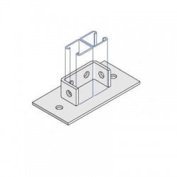 Channel Bracket Flat Base Plate Double AI-036 HDG (BOX OF 25 PCS)
