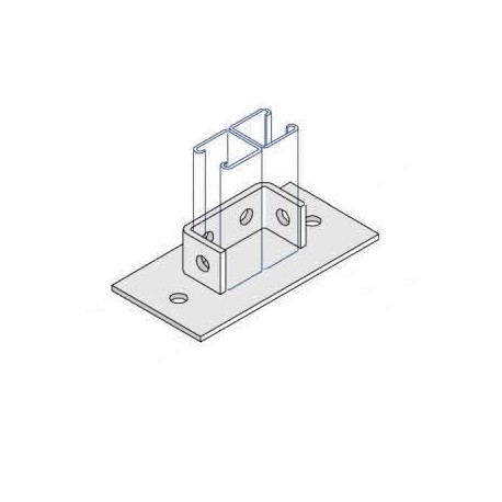 Channel Bracket Flat Base Plate Double