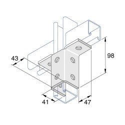 2 Lug Wing Bracket AI-039 HDG (BOX OF 15 PCS)