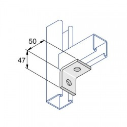 RIGHT ANGLE ONE HOLE ONE HOLE HDG AI008 (BOX OF 50 PCS)