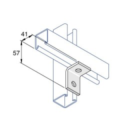 RIGHT ANGLE ONE HOLE ONE HOLE HDG AI009 (BOX OF 50 PCS)
