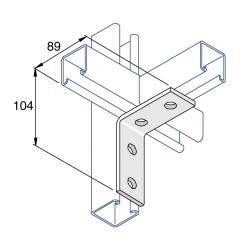 RIGHT ANGLE TWO HOLE TWO HOLE HDG AI013 (BOX OF 25 PCS)