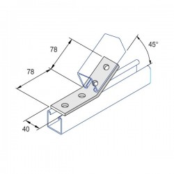 ANGLE FITTING BRACKET TWO HOLE TWO HOLE HDG AI022 A (BOX OF 25 PCS)