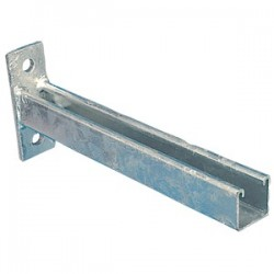 CANTILEVER ARM TWO HOLE 150 MM HDG
