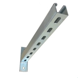 SLOTTED CANTILEVER ARM TWO HOLE 750 MM HDG