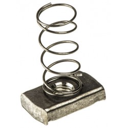 M-6 CHANNEL NUT LONG SPRING SS-304 (BOX OF 100 PCS)
