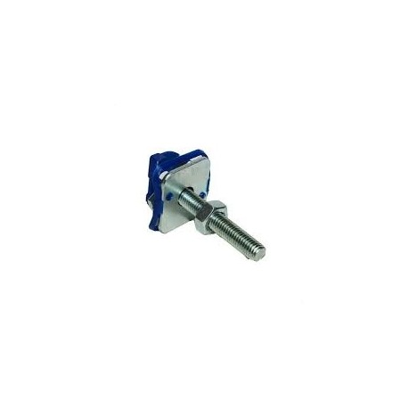 M8X40 CHANNEL NUT WITH BLUE PLASTIC,STUD,WASHER,NUT BZP (BOX OF 100 PCS)