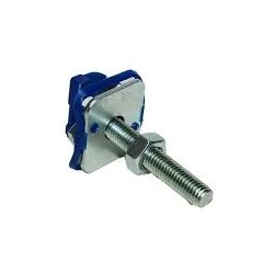 M10X60 CHANNEL NUT WITH BLUE PLASTIC,STUD,WASHER AND NUT BZP (BOX OF 100 PCS)