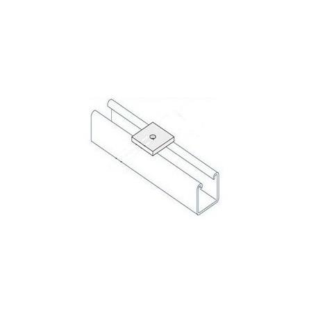 Channel bracket flat M6 hole HDG (BOX OF 100 PCS)