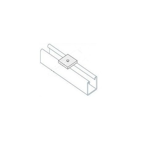 Channel bracket flat M6 hole BZP (BOX OF 100 PCS)