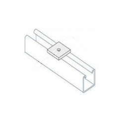 Channel bracket flat M8 hole BZP (BOX OF 100 PCS)