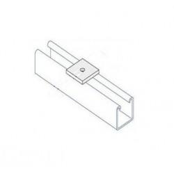 Channel bracket flat M8 hole BZP (BOX OF 100 PCS)