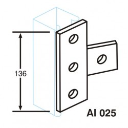 RIGHT ANGLE TEE CENTER HDG AI025 (BOX OF 25 PCS)