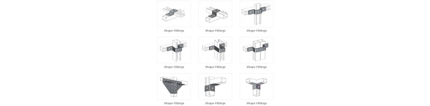 U and Z Shape Fittings & Couplers